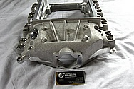V8 Engine Aluminum Blower Intake Manifold BEFORE Chrome-Like Metal Polishing and Buffing Services / Restoration Services
