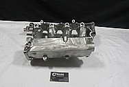 Aluminum 4 Cylinder Upper Intake Manifold BEFORE Chrome-Like Metal Polishing and Buffing Services / Restoration Services