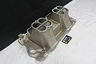 Weiand Aluminum Tunnel Ram Intake Manifold BEFORE Chrome-Like Metal Polishing and Buffing Services / Restoration Services