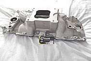 Holley Aluminum V8 Engine Intake Manifold BEFORE Chrome-Like Metal Polishing and Buffing Services / Restoration Services