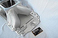 Edelbrock Vicotor Aluminum Intake Manifold BEFORE Chrome-Like Metal Polishing and Buffing Services / Restoration Services