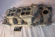 Ford Aluminum V8 Intake Manifold BEFORE Chrome-Like Metal Polishing and Buffing Services