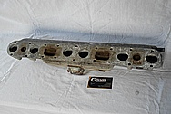 Aluminum Rough Cast 6 Cylinder Intake Manifold BEFORE Chrome-Like Metal Polishing and Buffing Services / Restoration Services