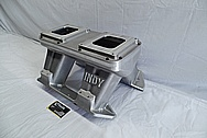 Indy Performance Aluminum Intake Manifold BEFORE Chrome-Like Metal Polishing and Buffing Services / Restoration Services