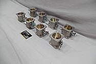Aluminum Intake Manifold / Throttle Bodies / Horns BEFORE Chrome-Like Metal Polishing and Buffing Services / Restoration Services
