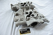 Vintage Aluminum Ford Thunderbird Aluminum Intake Manifold BEFORE Chrome-Like Metal Polishing and Buffing Services