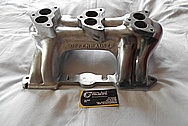 Aluminum V8 Engine Intake Manifold BEFORE Chrome-Like Metal Polishing and Buffing Services / Restoration Services