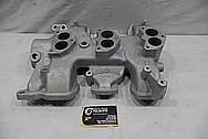 Edelbrock Aluminum V8 Engine Intake Manifold BEFORE Chrome-Like Metal Polishing and Buffing Services / Restoration Services