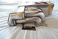 Ford Mustang Aluminum V8 Engine Intake Manifold BEFORE Chrome-Like Metal Polishing and Buffing Services / Restoration Services Plus Custom Painting Services