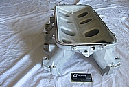 Aluminum Holley EFI Chevy LS1 V8 Intake Manifold BEFORE Chrome-Like Metal Polishing and Buffing Services