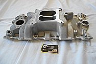 6 Cylinder Aluminum Intake Manifold BEFORE Chrome-Like Metal Polishing and Buffing Services / Restoration Services