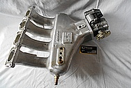 4 Cylinder Aluminum Intake Manifold BEFORE Chrome-Like Metal Polishing and Buffing Services / Restoration Services