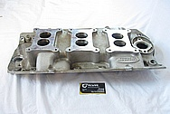 Aluminum V8 Intake Manifold BEFORE Chrome-Like Metal Polishing and Buffing Services