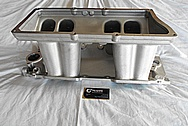 Edelbrock V8 Aluminum Intake Manifold BEFORE Chrome-Like Metal Polishing and Buffing Services / Restoration Services