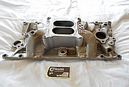 V8 Aluminum Intake Manifold BEFORE Chrome-Like Metal Polishing and Buffing Services / Restoration Services
