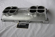 Weiand Big Block Ford Aluminum V8 Intake Manifold BEFORE Chrome-Like Metal Polishing and Buffing Services