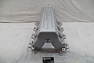 Aluminum Edelbrock Intake Manifold BEFORE Chrome-Like Metal Polishing and Buffing Services / Restoration Services