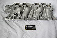 Ford Mustang Aluminum 5.8L V8 GT40 Lower Intake Manifold BEFORE Chrome-Like Metal Polishing and Buffing Services