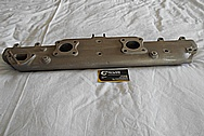 Aluminum Jaguar Intake Manifold BEFORE Chrome-Like Metal Polishing and Buffing Services / Restoration Services