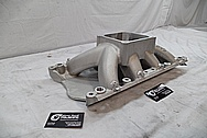 Edelbrock Aluminum Intake Manifold BEFORE Chrome-Like Metal Polishing and Buffing Services / Restoration Services