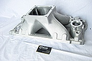 Rough Cast V8 Aluminum Intake Manifold BEFORE Chrome-Like Metal Polishing and Buffing Services