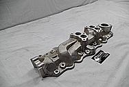 Navarro Reg Dual Aluminum Intake Manifold BEFORE Chrome-Like Metal Polishing and Buffing Services / Restoration Services