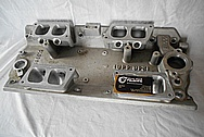 Big Block Chevy Ram Jet Lower Intake Manifold BEFORE Chrome-Like Metal Polishing and Buffing Services / Restoration Services