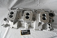 Small Block Chevy Aluminum Intake Manifold BEFORE Chrome-Like Metal Polishing and Buffing Services / Restoration Services