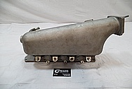 Aluminum 4 Cylinder Intake ManifoldBEFORE Chrome-Like Metal Polishing and Buffing Services / Restoration Services