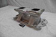Weiand Aluminum Intake Manifold BEFORE Chrome-Like Metal Polishing - Aluminum Polishing