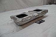 Weiand Aluminum Intake Manifold BEFORE Chrome-Like Metal Polishing - Aluminum Polishing