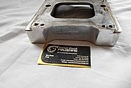 Flathead Speed Aluminum Blower Intake Manifold BEFORE Chrome-Like Metal Polishing - Aluminum Polishing