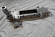 B&M Aluminum Blower Intake Manifold BEFORE Chrome-Like Metal Polishing - Aluminum Polishing