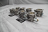 Aluminum Intake Manifold Throttle Body Pieces BEFORE Chrome-Like Metal Polishing - Aluminum Polishing