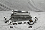 Toyota Supra 2JZ-GTE Aluminum Upper Intake Manifold Setup BEFORE Chrome-Like Metal Polishing - Aluminum Polishing