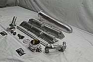 Toyota Supra 2JZ-GTE Aluminum Upper Intake Manifold Setup BEFORE Chrome-Like Metal Polishing - Aluminum Polishing