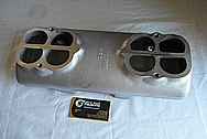 Weiand Aluminum Upper Intake Manifold BEFORE Chrome-Like Metal Polishing - Aluminum Polishing