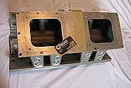 1963 Chevy Nova 1,100 hp 632 Cubic Inch Merland 3 Big Chieve Engine Aluminum Intake Manifold BEFORE Chrome-Like Metal Polishing and Buffing Services