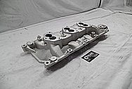 Edelbrock Aluminum Intake Manifold BEFORE Chrome-Like Metal Polishing and Buffing Services - Aluminum Polishing