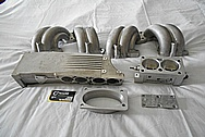 Aluminum Tuned Port Intake Manifold Setup BEFORE Chrome-Like Metal Polishing and Buffing Services - Aluminum Polishing