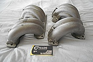 Aluminum Tuned Port Intake Manifold Runners BEFORE Chrome-Like Metal Polishing and Buffing Services - Aluminum Polishing