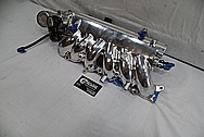 Toyota Supra Aluminum Intake Manifold BEFORE Chrome-Like Metal Polishing and Buffing Services - Aluminum Polishing