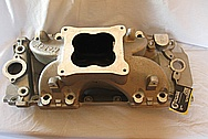 Late Model 502 Chevy V8 Big Block Holly Aluminum Intake Manifold BEFORE Chrome-Like Metal Polishing and Buffing Services