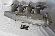 Mitsubishi EVO Magnus V5 Aluminum Intake Manifold BEFORE Chrome-Like Metal Polishing and Buffing Services - Aluminum Polishing