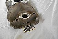 Weiand V8 Engine Aluminum Intake Manifold BEFORE Chrome-Like Metal Polishing and Buffing Services - Aluminum Polishing