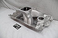 V8 Engine Aluminum Intake Manifold BEFORE Chrome-Like Metal Polishing - Aluminum Polishing