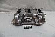 V8 Aluminum Intake Manifold BEFORE Chrome-Like Metal Polishing and Buffing Services - Aluminum Polishing