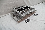 V8 Aluminum Blower Intake Manifold BEFORE Chrome-Like Metal Polishing and Buffing Services - Aluminum Polishing Service
