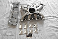 Aluminum V8 Engine Intake Manifold BEFORE Chrome-Like Metal Polishing - Aluminum Polishing Services