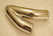 HKS Turbo Aluminum Y-Pipe AFTER Chrome-Like Metal Polishing and Buffing Services